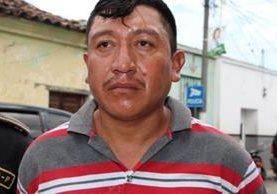 Luis Arturo Ruano Hernández luego de ser detenido en julio de 2015. Foto Prensa Libre: PNC