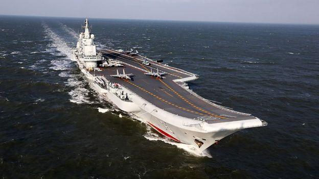 El primer portaaviones de China, el Liaoning, es un buque soviético reacondicionado. GETTY IMAGES