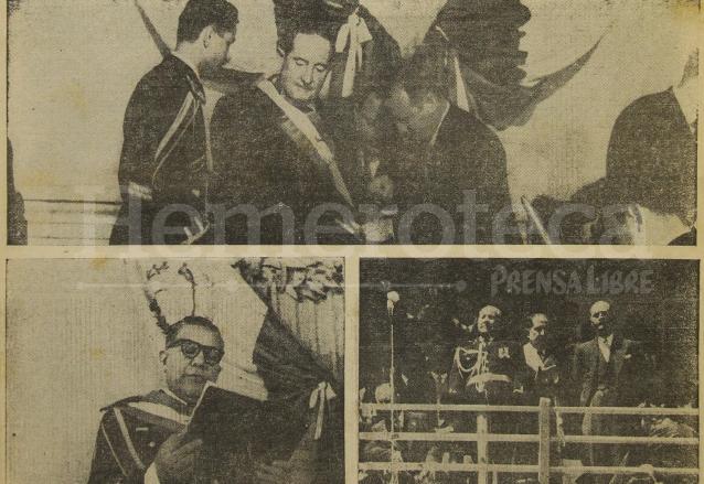 Miguel Ydígoras (arriba), investido presidente de Guatemala en 1958. Durante su mandato empezó el movimiento guerrillero. (Foto: Hemeroteca PL)