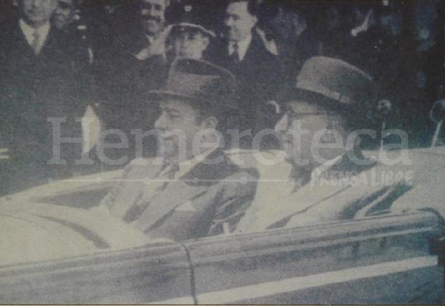Anastasio Somoza, dictador nicaragüense y Jorge Ubico durante una visita. (Foto: Hemeroteca PL)