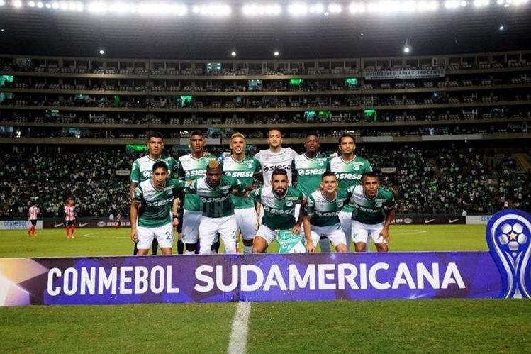 El portero guatemalteco Ricardo Jeréz debutó como titular en el Deportivo Cali en la Copa Sudamericana. (Foto Prensa Libre: Deportivo Cali)