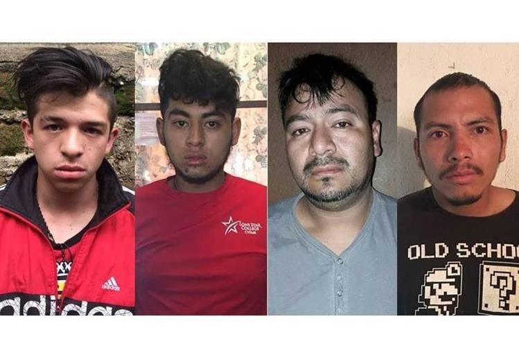 Cuatro hombres capturados son investigados por el secuestro de un menor, en Tecpán Guatemala, Chimaltenango. (Foto Prensa Libre: PNC)