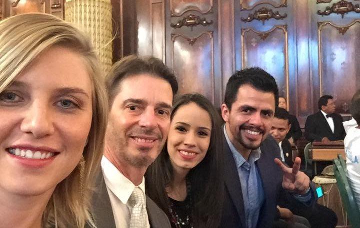 Gisela Morales, Juan Carlos Romero, Elizabeth Zamora y Gabriel Sagastume forman parte de la Comisión Atletas Olímpicos. (Foto Prensa Libre: Facebook)