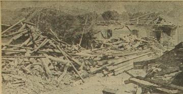 Vista parcial de la desolación causada por el terremoto del 4 de febrero de 1976 en San Martín Jilotepeque, Chimaltenanago. (Foto: Hemeroteca PL)