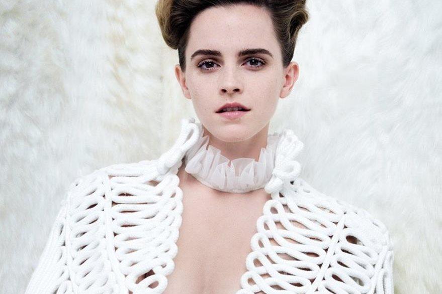 Emma Watson posa para la revista Vanity Fair. La fotografía despertó varias críticas. (Foto Prensa Libre: BBC).
