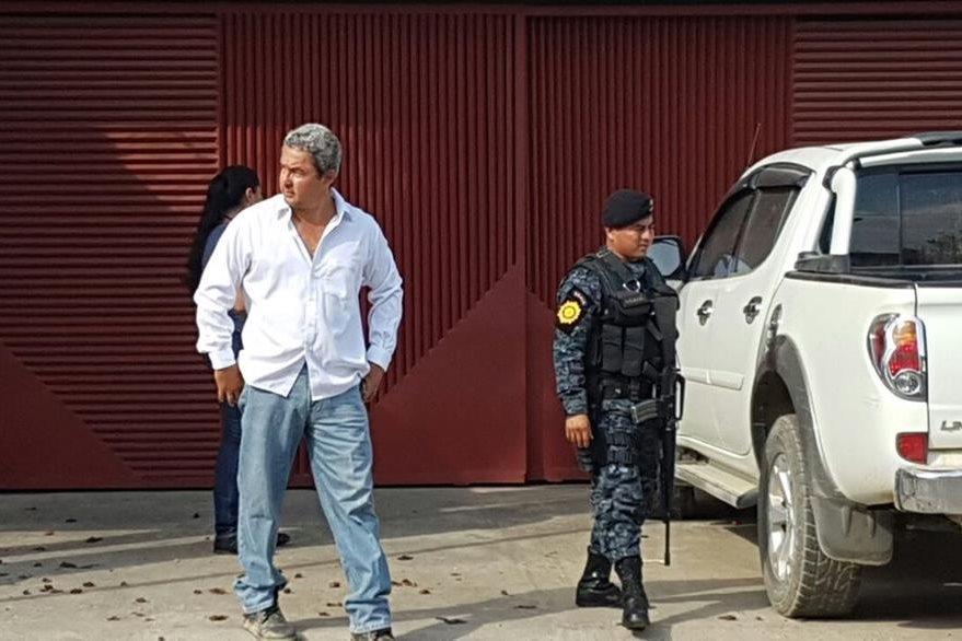 Exdiputado del Partido Patriota Marvin Díaz, capturado en Santo Tomás de Castilla. (Foto Prensa Libre: Dony Stewart)