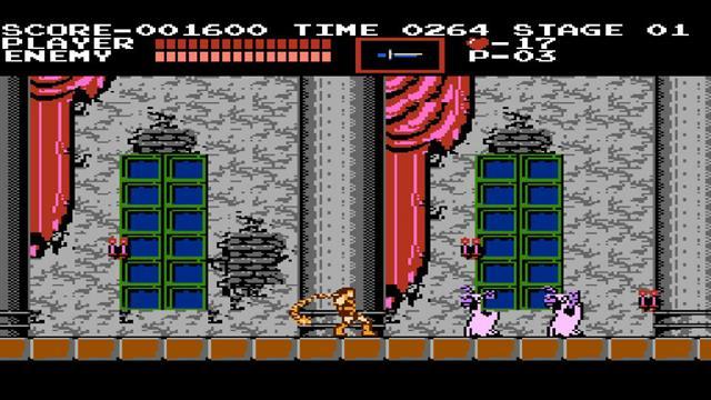 Así era la primera versión del videojuego Castlevania. (Foto Prensa Libre: La Nación).