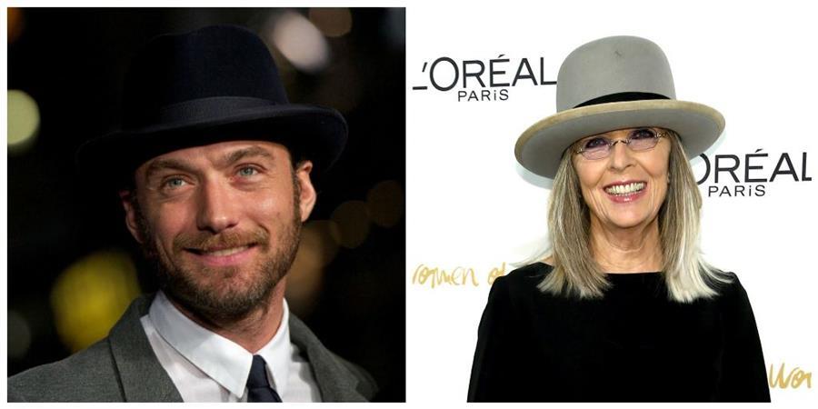 El actor británico Jude Law y la estadounidense Diane Keaton participan en el filme Young Pope (El papa joven). (Foto Prensa Libre: AFP)