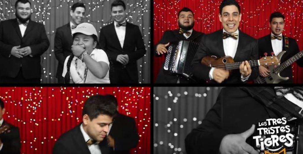 Andrea participa en videoclip del grupo Los Tres Tristes Tigres. (Foto Prensa Libre: Tomada de YouTube)