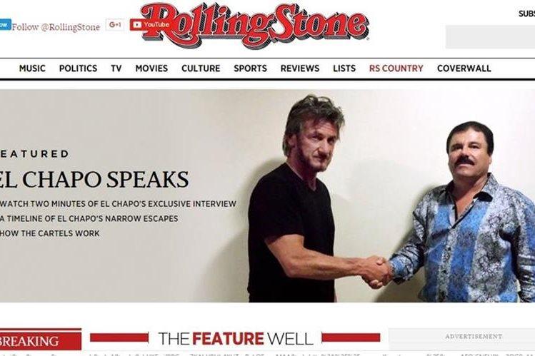 La revista Rolling Stone contrató a los actores Sean Penn y Kate del Castillo para entrevistar a el Chapo Guzmán. (Foto Prensa Libre: Revista Rolling Stone)