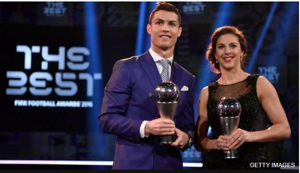 Ronaldo y Lloyd fueron los ganadores en la primera entrega de los premios The Best de la FIFA.