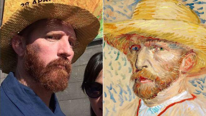 """Matt Butterworth dice que le preguntan acerca de su parecido con Van Gogh """"cada cierto tiempo"""". MATT BUTTERWORTH/BBC"""