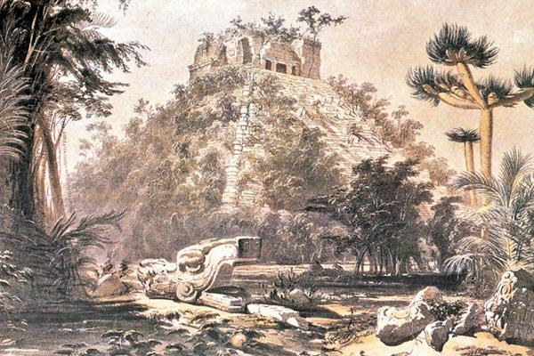 Resultado de imagen para dibujo de copan hecho por un historiador