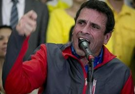 Henrique Capriles, líder opositor venezolano. (Foto Prensa Libre: AP).