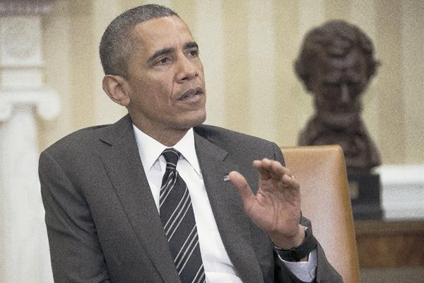 El presidente Barack Obama habla en la Oficina Oval de la Casa Blanca en Washington DC.(Foto Prensa Libre:AP)