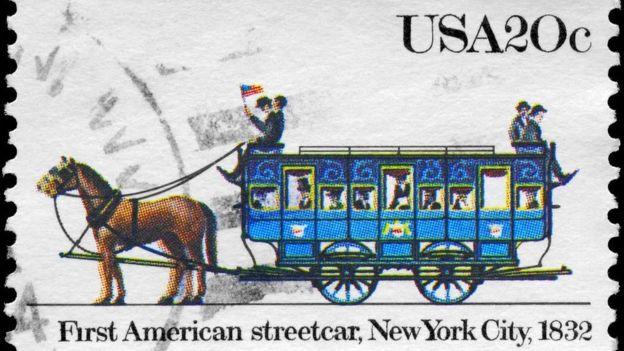El primer tranvía estadounidense en Nueva York, 1832. THINKSTOCK