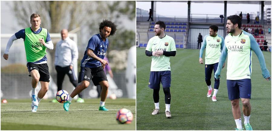 La acción regresa a la Liga española, después de la jornada internacional de selecciones. (Foto Prensa Libre: Twitter Real Madrid y Barcelona)