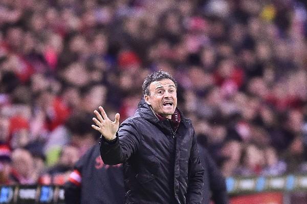 El técnico del Barcelona, Luis Enrique acumula 31 partidos sin perder. (Foto Prensa Libre: AP)