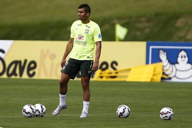 Casemiro se quedó fuera de los partidos con la selección de Brasil contra Argentina y Perú por lesión. (Foto Prensa Libre: Hemeroteca)
