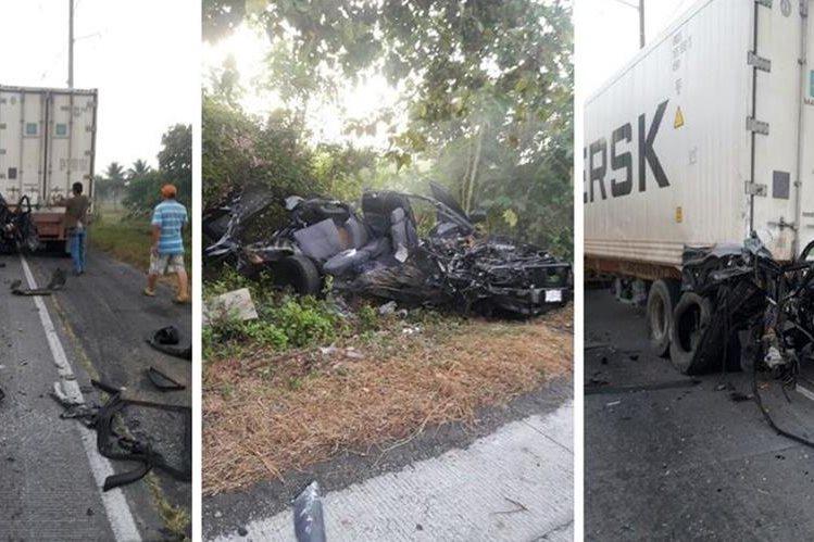 El fatal accidente ocurrió en la madrugada de este domingo. (Foto Prensa Libre: PNC)