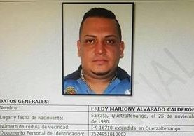 La Interpol tenía fichado al guatemalteco Fredy Mariony Alvarado Calderón, capturado esta semana en Maryland, EE. UU. (Foto Prensa Libre: Interpol)