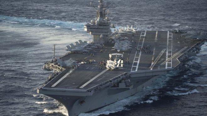 El USS George Bush es actualmente el mayor portaaviones en servicio en el mundo. GETTY IMAGES