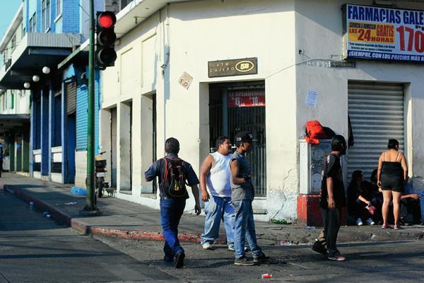 Fotografías que muestran los lugares más peligrosos de la zona 1 de la capital, en donde suceden hechos de violencia a pesar de la presencia de la PNC. El proyecto busca prevenir la violencia.