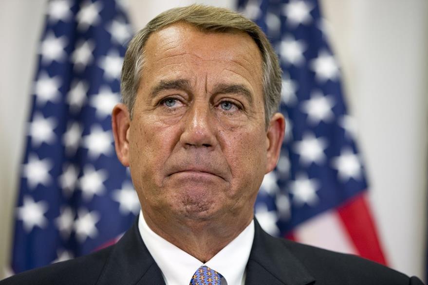 El líder republicano John Boahner, criticó fuertemente el acuerdo nuclear con Irán. (Foto Prensa Libre: AP).