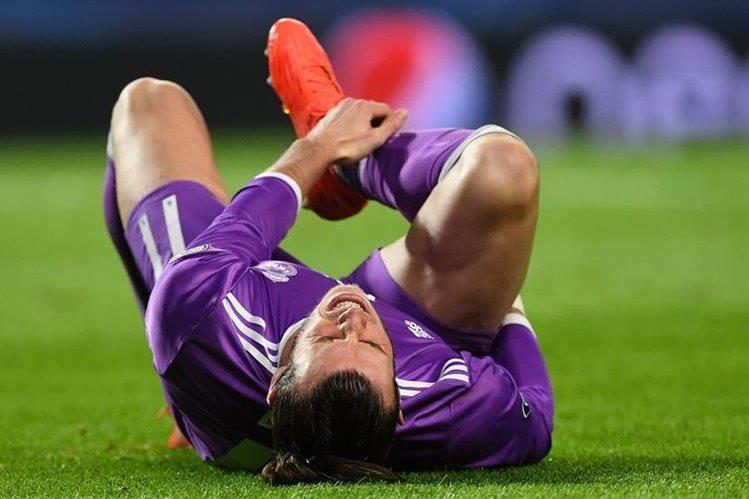 Bale se lesionó en el partido contra el Sporting de Portugal en la quinta jornada de la Champions. (Foto Prensa Libre: AFP)