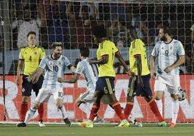 Messi guía a la selección Albiceleste contra Colombia