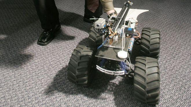 El MARCbot fue diseñado para las operaciones militares de EE.UU. en Irak y Afganistán por la firma Exponent. GETTY IMAGES