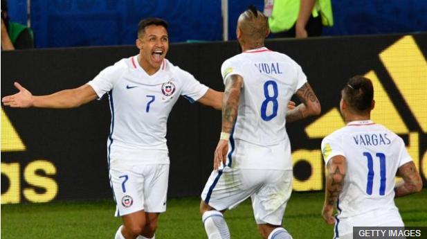 La clave para Chile pasará por la conexión y presión que logren Alexis Sánchez, Arturo Vidal Eduardo Vargas.