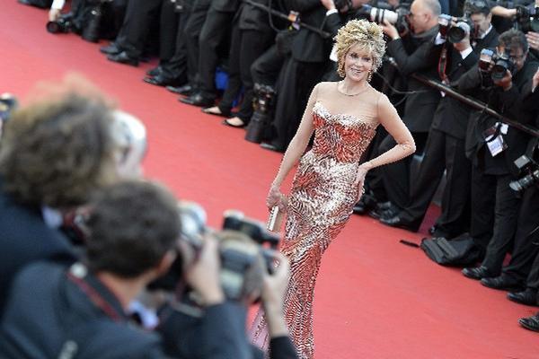 <p>Jane Fonda posa a su llegada a la proyección de la película Moonrise Kingdom EFE/Stephane Reix</p>
