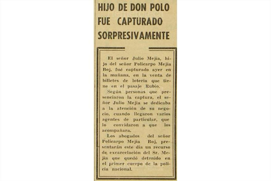 Nota periodística de marzo de 1965, sobre implicados en estafa en la Lotería Nacional. (Foto: Hemeroteca PL)