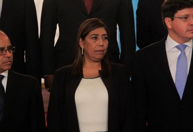 Sherry Ordóñez durante el acto de juramentación el 14 de enero recién pasado. (Foto Prensa Libre: Hemeroteca PL)