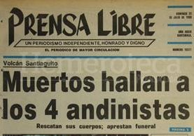 Titular de Prensa Libre del 22 de julio de 1990. (Foto: Hemeroteca PL)