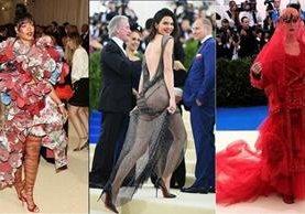 Rihanna, Kendall Jenner y Katy Perry lucieron vestidos extravagantes en la noche del MET 2017 (Foto Prensa Libre: Cortesía)