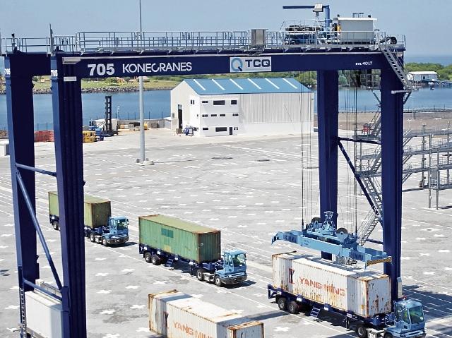 La terminal de Contenedores Quetzal se encuentra sin operar movimiento de carga.