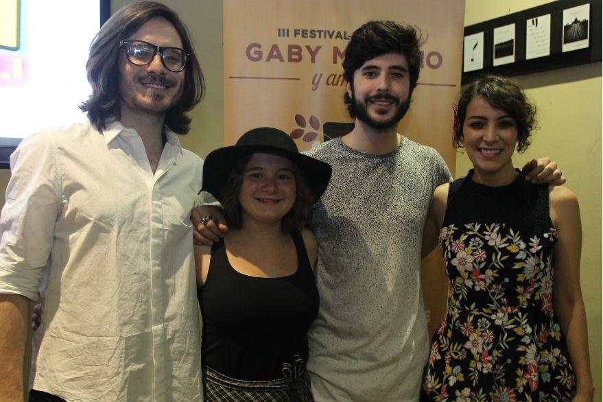 Andrés Sanjose, Dominique Hunziker, Diego Sanjose y Gaby Moreno  compartirán en el escenario. (Foto Prensa Libre: Keneth Cruz)