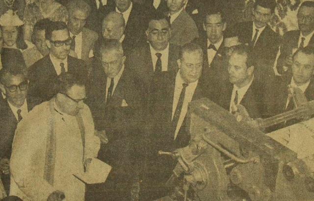 2 de septiembre 1963 llega la nueva rotativa Goss de Prensa Libre.