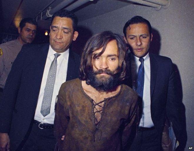 El asesino Charles Manson, en los años 70. (Foto, AP)