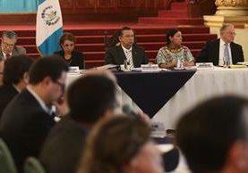 Reunión del Gabinete Social efectuada este lunes. (Foto Prensa Libre: Álvaro Interiano)