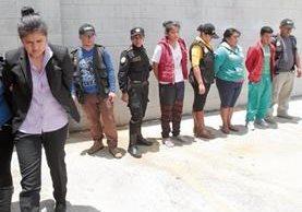 Cuatro Integrantes de la estructura criminal los Toyos, consignados en el juzgado de Mixco.