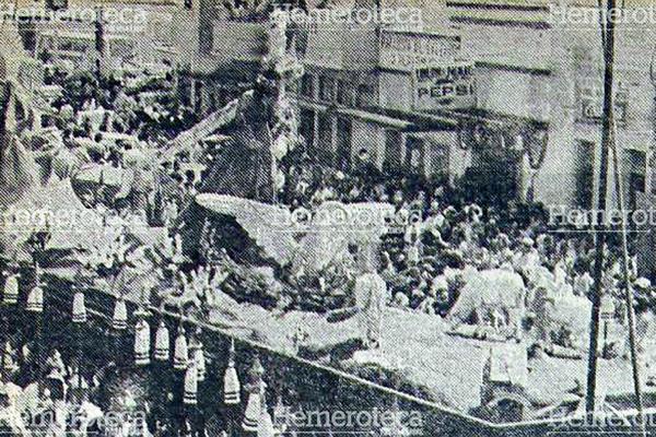 Anda de Jesús de Candelaria el Jueves Santo de 1978. Foto: Hemeroteca PL