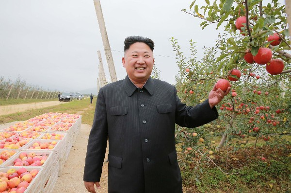 Kim Jong-Un visita la granja de frutas Kosan en Corea del Norte.(AFP).