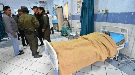 José Luis Choque murió en el hospital tras cpor los golpes que recibió en prisión.