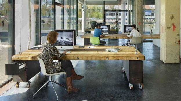 Así lucen las oficinas de Heldergroen durante el día. HELDERGROEN