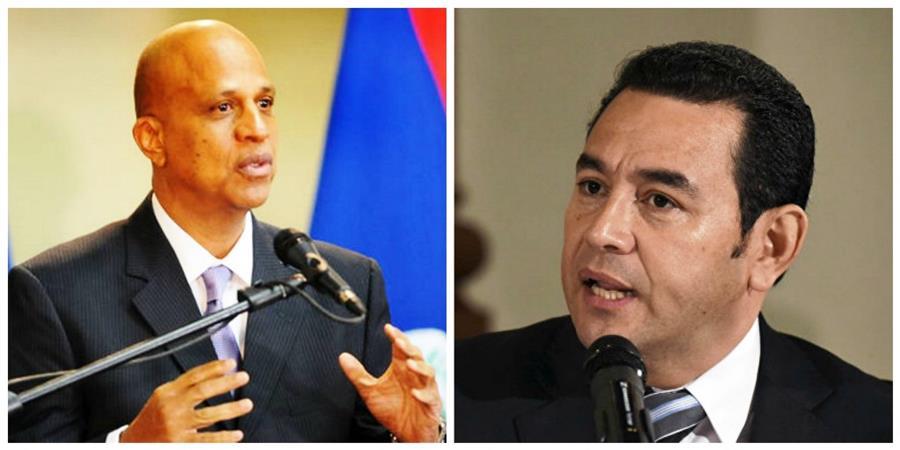 Los mandatarios de Belice y Guatemala se reunieron en la sede de la ONU en Washington (Foto Prensa Libre: Hemeroteca PL)