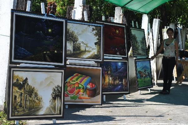 Local DE  la aldea  Sibaná,  El Asintal, Retalhuleu, donde se exhibieron los cuadros.