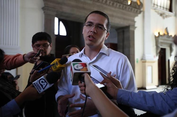 Felipe Alejos es el primer vicepresidente del Congreso. Foto Prensa Libre: Hemeroteca PL)